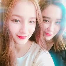 Nancy (Momoland) with her sister