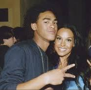 Trey Smith with his mother