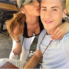 Catherine Paiz with her brother