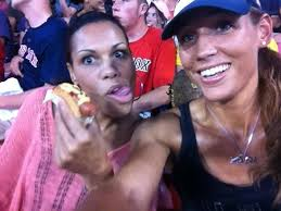 Lolo Jones with her sister