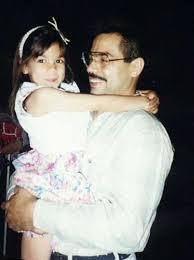Alexandria Ocasio-Cortez with her father