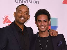 Trey Smith with his father
