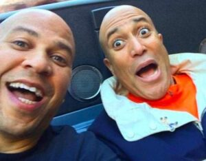 Cory Booker with his brother
