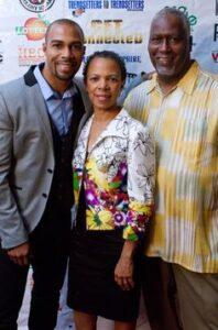 Omari Hardwick with his parents
