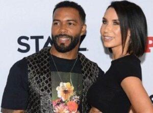 Omari Hardwick with his wife