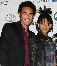 Willow Smith with her brother Trey