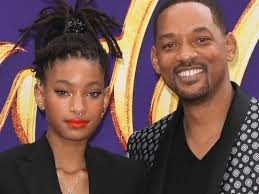 Willow Smith with her father