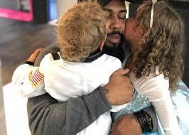 Omari Hardwick with his kids