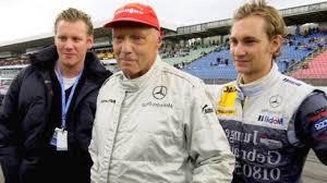 Andreas Nikolaus Niki Lauda with son