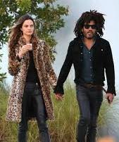 Lenny Kravitz with his ex-girlfriend Barbara