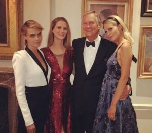 Charles Delevingne with her family