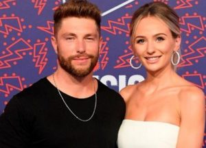 Chris Lane with his wife
