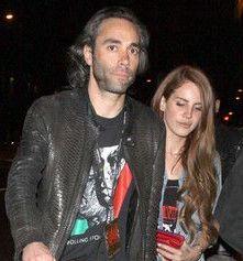 Lana Del Rey with her ex-boyfriend Justin