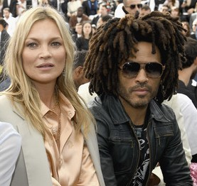 Lenny Kravitz with his ex-girlfriend Kate
