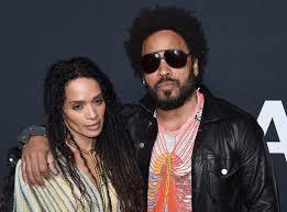 Lenny Kravitz with his ex-wife Lisa Bonet