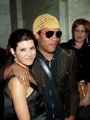 Lenny Kravitz with his ex-girlfriend Marisa