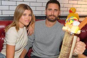 Sofia Richie with her boyfriend Scott