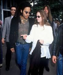 Lenny Kravitz with his ex-girlfriend Vanessa