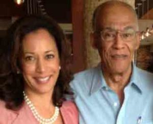Kamala Harris with her father