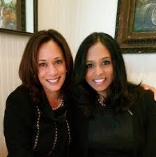 Kamala Harris with her sister