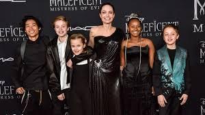 Shiloh Jolie-Pitt with her family