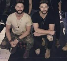 Chris Lane with his brother
