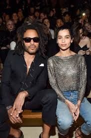 Lenny Kravitz with his daughter