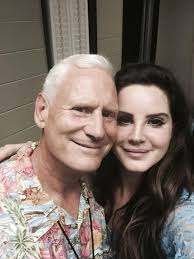 Lana Del Rey with her father