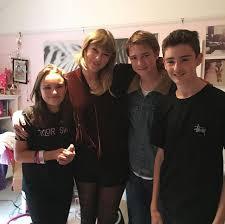 Joe Alwyn with his family