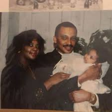 Winnie Harlow with her parents