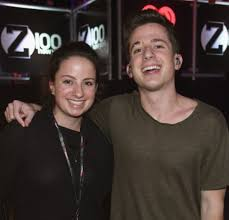 Charlie Puth with his sister