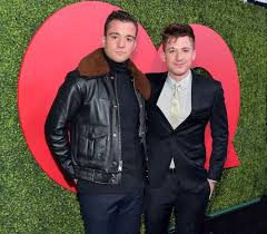 Charlie Puth with his brother