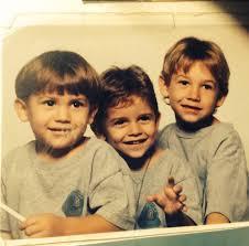 Brandon Calvillo with his brothers