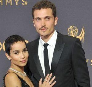 Karl Glusman with his wife