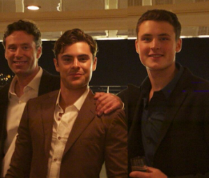 Zac Efron with his father & brother