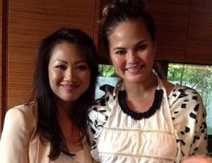 Chrissy Teigen with her sister
