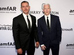 Anderson Cooper with his ex-boyfriend Benjamin