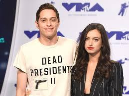 Pete Davidson with his ex-girlfriend Cazzie