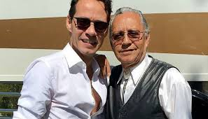 Marc Anthony with his father