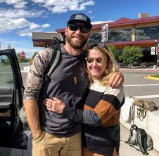 Chase Rice with his mother