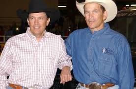 George Strait with his brother