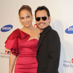 Marc Anthony with his ex-wife Jennifer