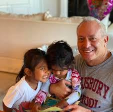 Joel Schiffman with his daughters