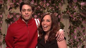Pete Davidson with his mother