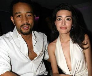 John Legend with his ex-girlfriend Wafah
