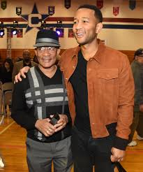 John Legend with his father
