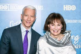 Anderson Cooper with his mother