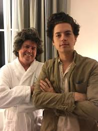 Cole Sprouse with his father