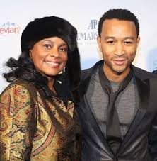 John Legend with his mother