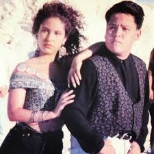 Selena Quintanilla with her brother